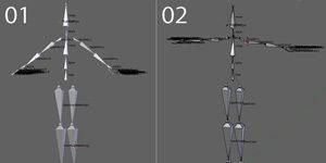 Unityのhumanoid互換で作成、ネーミングしたBlenderのアーマチュアデータ